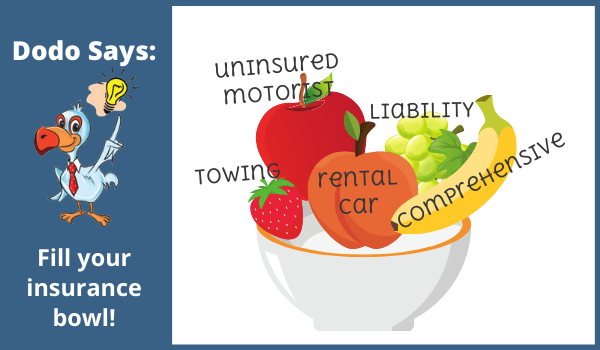 Car insurance shopping is like filling a bowl of fruit