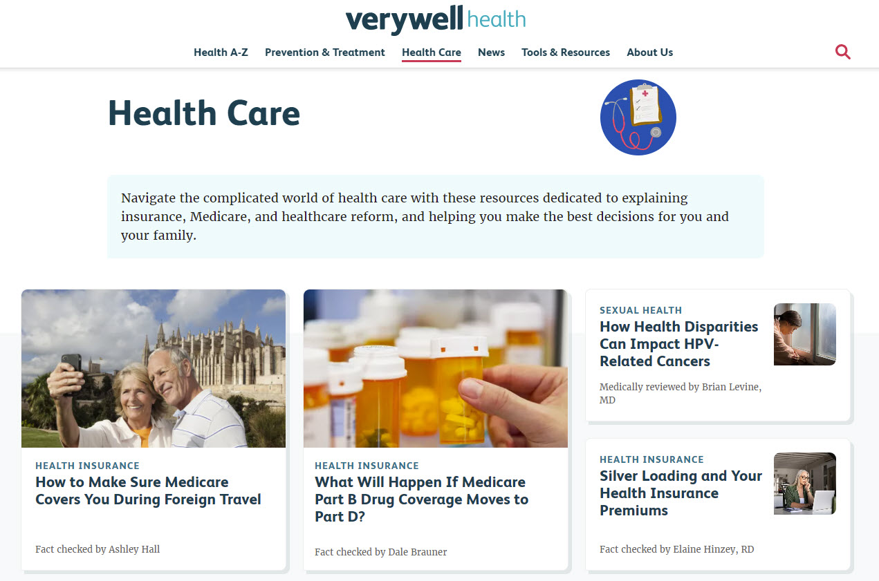 Verywellhealth.com - A Leading Healthcare Blog